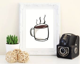 espresso 5x7 print - coffee print - coffee wall art - espresso decor - kitchen decor - kitchen wall art - food print - food decor - food art