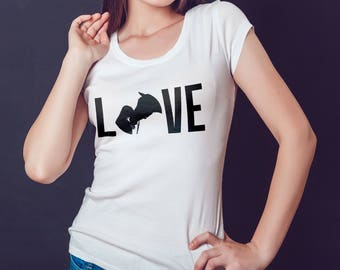 Horse Love - Women's t-shirt - Horses - Equestrian life - Equitation