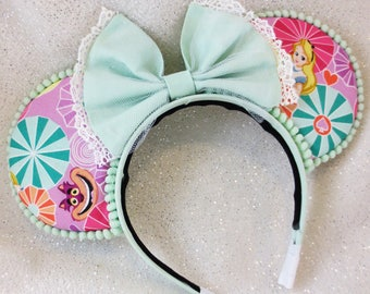 Alice In Wonderland Cheshire Cat Mouse Ears Headband