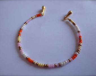 "Bracelet beads seed ""Golden citrus treats"""