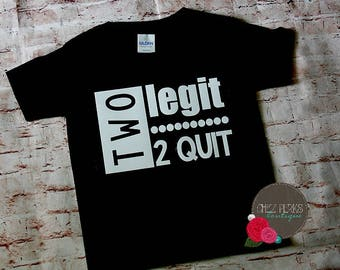 Boys Birthday Shirt, Two Birthday Shirt - Two Shirt - Two Legit 2 Quit, 2nd Birthday Shirt, Birthday Shirt 2, Two Shirt, Birthday Shirt Boy