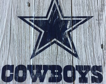Dallas Cowboys Handmade Sign, Vintage Look Reclaimed Wood Sign,  Sign, Wall Sign, Cowboys Decor - Gift, Dad, Husband Boyfriend Boss