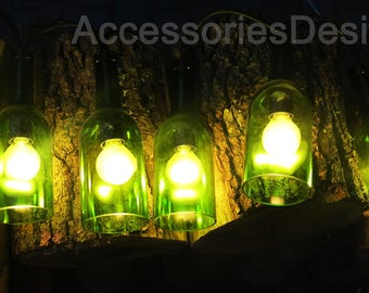 Wedding garland lamp bottle lantem Garland for party and decoration glass