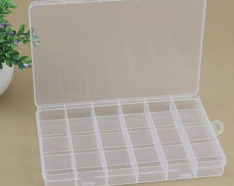 Plastic Storage Container / Compartments Plastic Jewelry Box (24 Grid)