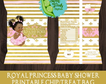 Royal Princess Baby Shower Printable Chip/Treat Bag