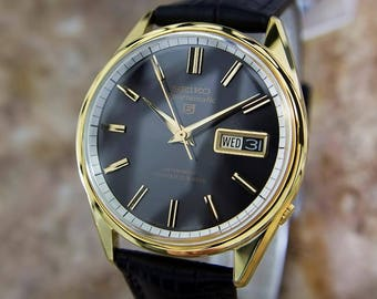 Seiko Sportsmatic 5 Vinatge Made in Japan 1970s Automatic Day Date Watch LA68