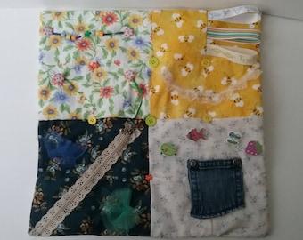 Fidget Blanket, Fidget Quilt, Sensory Blanket, Dementia Blanket, Alzheimer Blanket, Tactile Blanket, Activity Blanket, Therapy Blanket