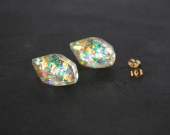 Crystal of aurora - 14kgf stud earrings