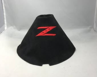 Nissan 350z 370z Embroidered Black Suede Shift Boot