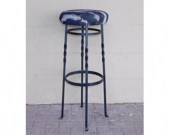 Vintage barstool wrought iron