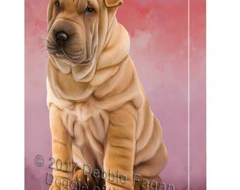 Shar Pei Dog Canvas Wall Art