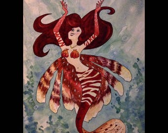 Lion fish Mermaid