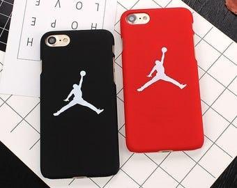 Custom Red and Black  Iphone Jump Man Jordan Cell Phone Smart Phone case