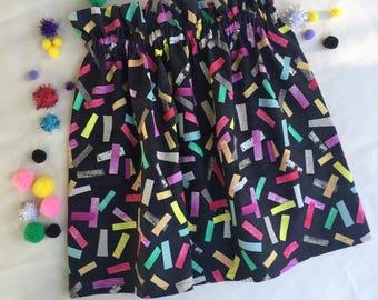 Sprinkle Paper Bag Skirt
