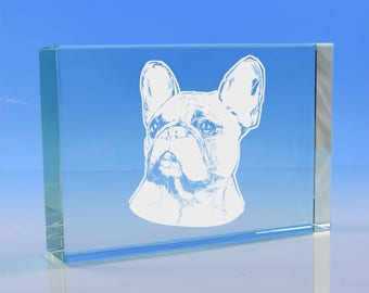 French Bulldog Gift Glass Paperweight, French Bulldog Dog Lover Gift, French Bulldog Birthday Gift, Frenchie Dog Glass Gift, Bulldog Gift