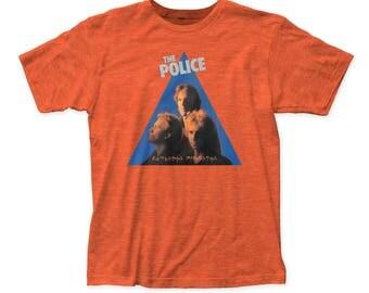 The Police Zenyatta Mondatta Men's Soft Fitted 30/1 Cotton Tee (POL12) Heather Orange
