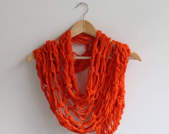 Orange Handmade Scarf
