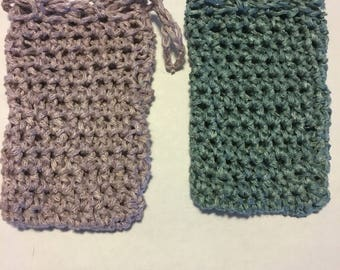 Crochet Linen Soap Saver