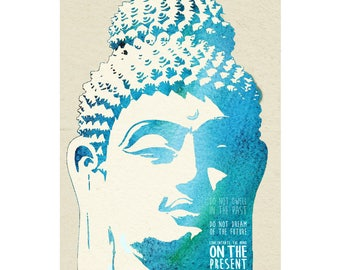 Buddha quote art photo print poster - 12x8 inches (30cm x 20cm) - Superb quality - N.0 2