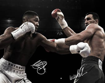 Anthony Joshua pre signed photo print poster - 12x8 inches (30cm x 20cm) - Superb quality - N.0 2