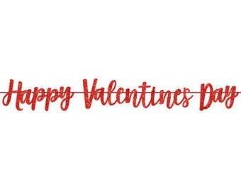 red happy valentines day banner red glitter banner valentines banner valentines day party