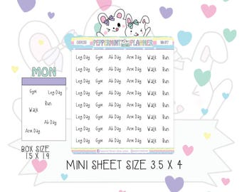 New Mini Sheet -- Exercise Words -- Sheet Size 3.5 x 4 -- #17