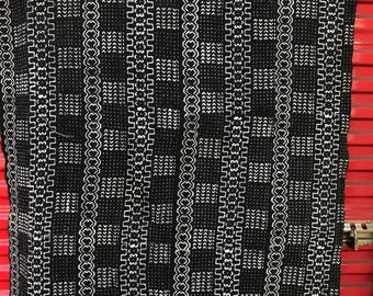 Black and white Mudcloth print