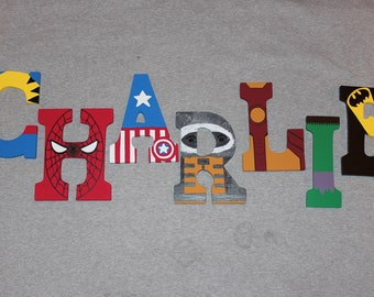 Superhero Letters - Superhero Decor - Custom Handpainted Letters - Kids Decor - Superhero Room