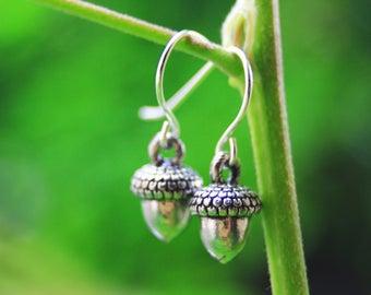 Acorn earrings, inspired by nature, oak acorn earrings, botanical jewelry, boho jewelry, boho earrings