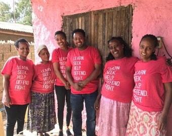 SALE - Carry 117 T-shirt, Africa, Ethiopia, Women Empowerment, Fair-trade, Shop Small, Fundraiser, Ethiopia tshirt,