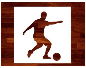 Soccer Player Male Custom Stencil