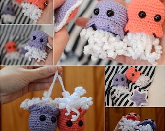 Set of 3 pcs. Crochet Octopus, Cute Octopus, Octopus Toy, Stuffed octopus, Octopus Plush, Octopus , toy newborn