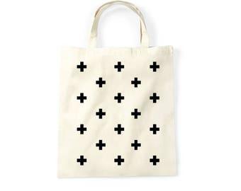 Shopping bag Crosses, funny bag, graphic bag, shopper, tote bag, tote tas, katoen tote, boodschappentas,
