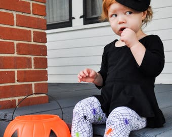 Halloween outfit for girls - Halloween leggings - Halloween shirt - girls Halloween outfit - toddler Halloween outfit