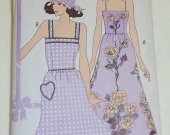 Vintage sewing Pattern Womans Weekly Summer dress Headscarf Size 16