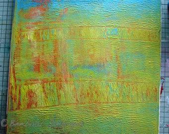 "Abstract Acrylic on Canvas ""Garden Window"""