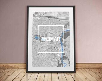 Weimar-framed City-digital printing