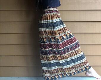 Tribal Patterned Long Skirt