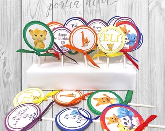 Word Party Cupcake Toppers