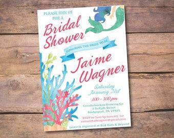 PERSONALIZED Under The Sea - Bridal Shower Invitation