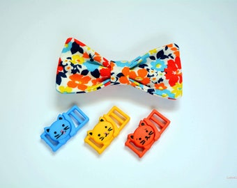cat bow tie 'Autumn leaves' - collar for cats with breakaway or non-breakaway buckles.