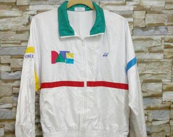 MEGA SALE 90's Vintage YONEX Jacket Windbreaker Track Jacket Medium