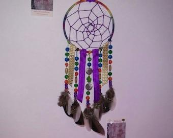 Dream Catcher- Rainbow Dream Catcher- Dreamcatcher- Rainbow Decor- Home Decor- Wall Decor- Gift for a Friend- Birthday Gift- Rainbow Warrior