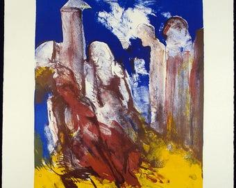 Untitled, 1992. Lithograph by Akbar BEHKALAM