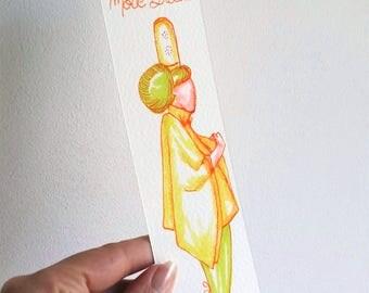 """Marque-pages """"Ciré jaune"""" Collection mode bretonne"""