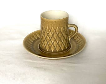 Cup and saucer RELIEF Kronjyden Denmark. Design Jens Quistgaard 1960 - 1970. Very good vintage condition. Rare size on the cup.