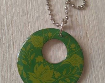 Boho chic disc necklace/gift for her/summer necklace