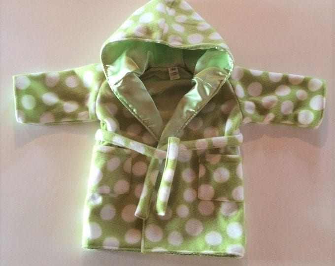 Baby Shower Gift, Bath Robe, Baby Clothes, Newborn Boy Clothes, Baby Girl Clothes Newborn, Hood, Green, Hood, Baby Robe with Hood,
