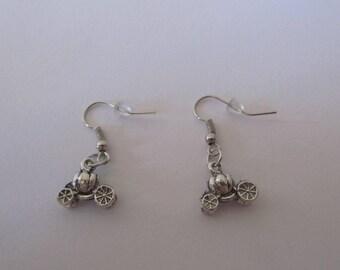 Pumpkin Carriage dangle earrings