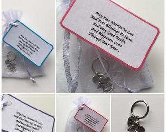Guardian Angel Keepsake Gift.. May Your Worries Be Less And Your Blessings Be More..